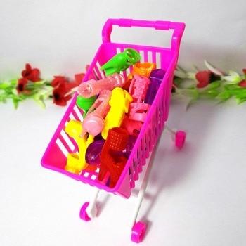 15 tipos diferentes de zapatos para muñecas Barbie + niños, Mini carrito de compras, accesorios de almacenamiento