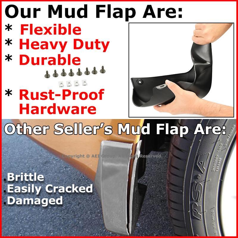 FOR 11-17 TOYOTA SIENNA VAN MUD FLAP SPLASH GUARD 4PCS FRONT+REAR CUSTOM MOLDED