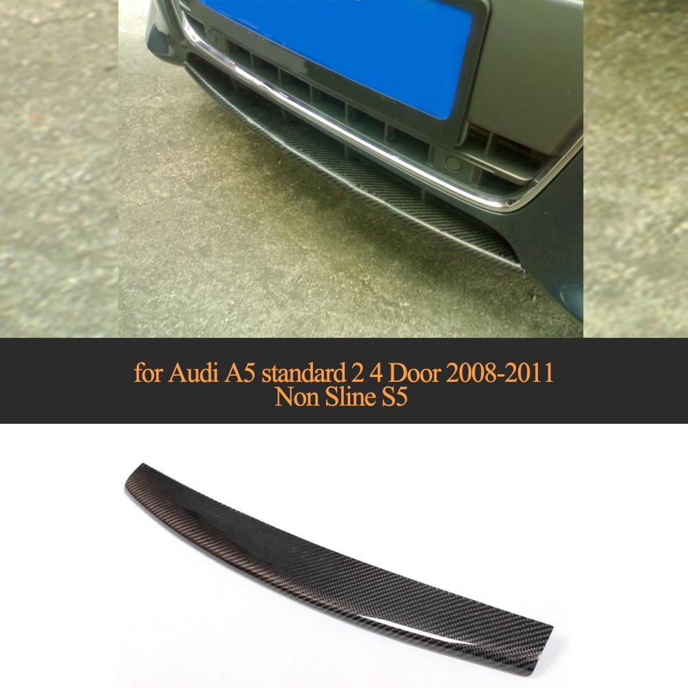 2008 Mazda6 4 Door Oem Style Spoiler: Carbon Fiber Front Bumper Lip Spoiler Wing For Audi A5 Standard 2 4 Door 2008 2011 Non Sline S5