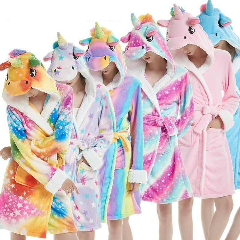 Star Unicorno Accappatoio Per Le Donne I Bambini Dei Pigiami Animale Del Panda Del Fumetto Degli Indumenti Da Notte Delle Ragazze Dei Ragazzi Vestaglia Indumenti Da Letto Del Bambino Costume Da Bagno