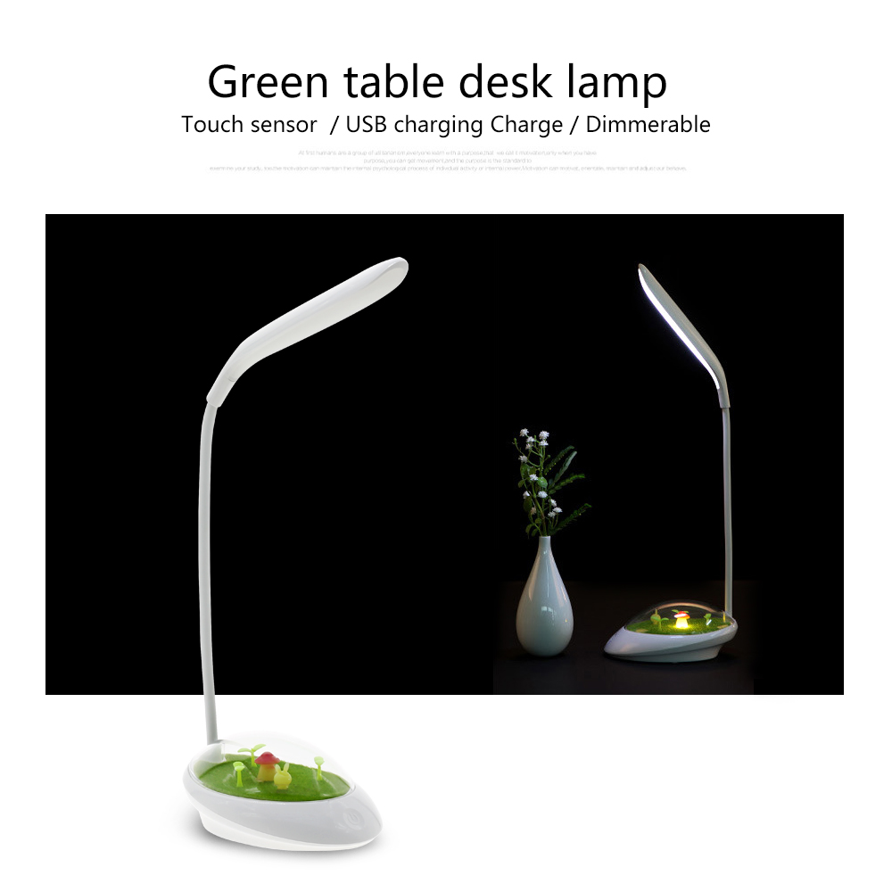 Grass green led desk lamp creative micro scenery touch sensor usb grass green led desk lamp creative micro scenery touch sensor usb charging charge reading table night light in desk lamps from lights lighting on geotapseo Image collections