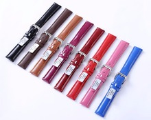 Universal leather watch band Multicolor multi-head suede strap Plain pin-pattern cowhide