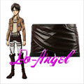 Anime Shingeki No Kyojin Attack On Titan Deluxe Edition Cosplay Costumes Unisex Chocolate PU Leather Apron Belt Skirt