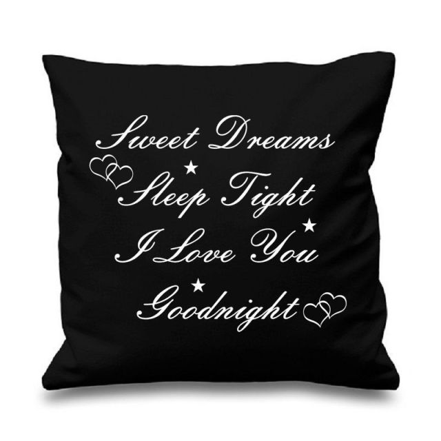 Quote Sweet Dreams Sleep Goodnight Cushion Cover Throw Pillow Case Love Heart Letter Pillows Cases