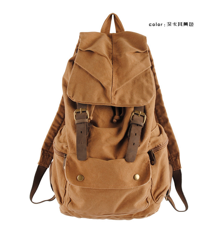 Vintage Canvas Backpack For Travel Bags Vintage School Backpacks FREE SHIPPING