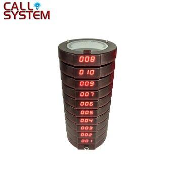 433.92 mhz receptor 10 pcs K-11 coaster pager vibrador Sem Fio Sistema de Gerenciamento de Fila Restaurante Fast Food