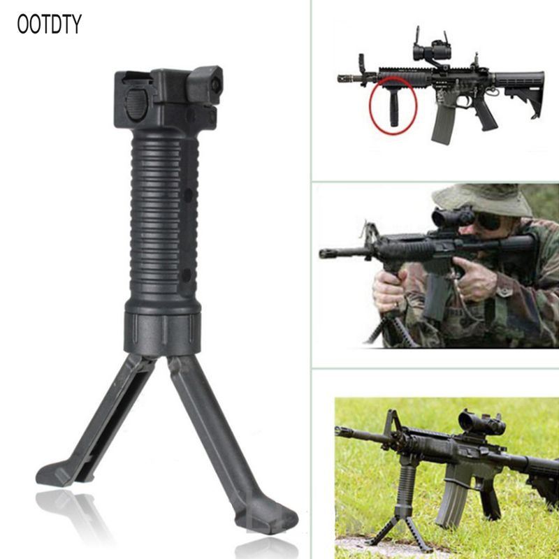 Tactical Rifle Grip Stand Vertical Foregrip Military Issue Bipod Picatinny Weaver Rail  Tactical Rifle Grip Stand Vertical Foregrip Military Issue Bipod Picatinny Weaver Rail
