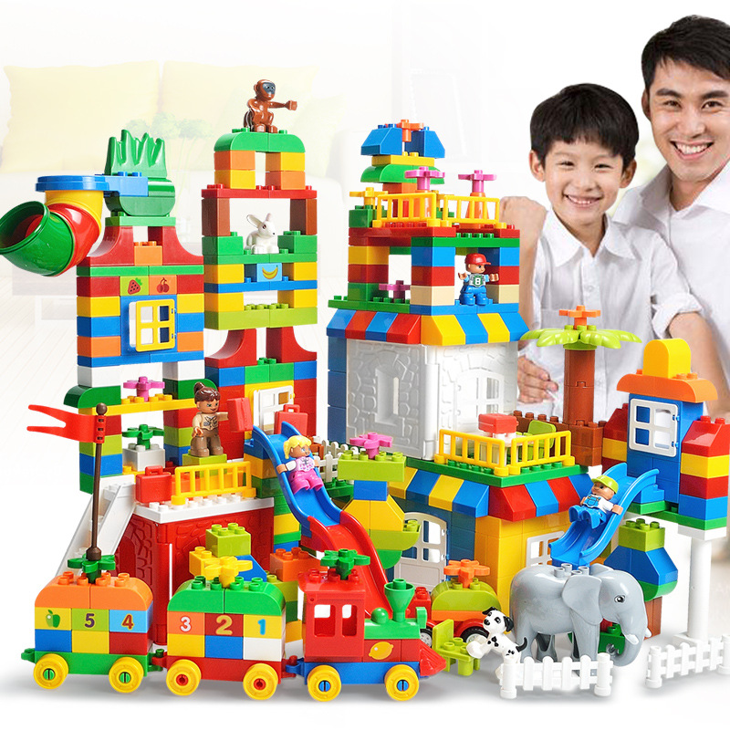 Assembled Large Particles Building Blocks Puzzle Toys Wholesale Children Education Toys blocade ru bun lock children puzzle toy building blocks