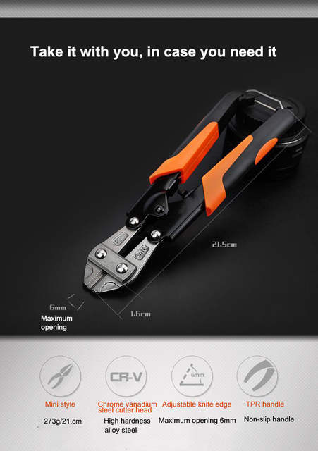 UNeefull 8-inch Steel Bar Clamps, Bolt Cutters Pliers,Cable wire Stripping  Crimping tools Cutting Multi Tool Pliers Hand tools