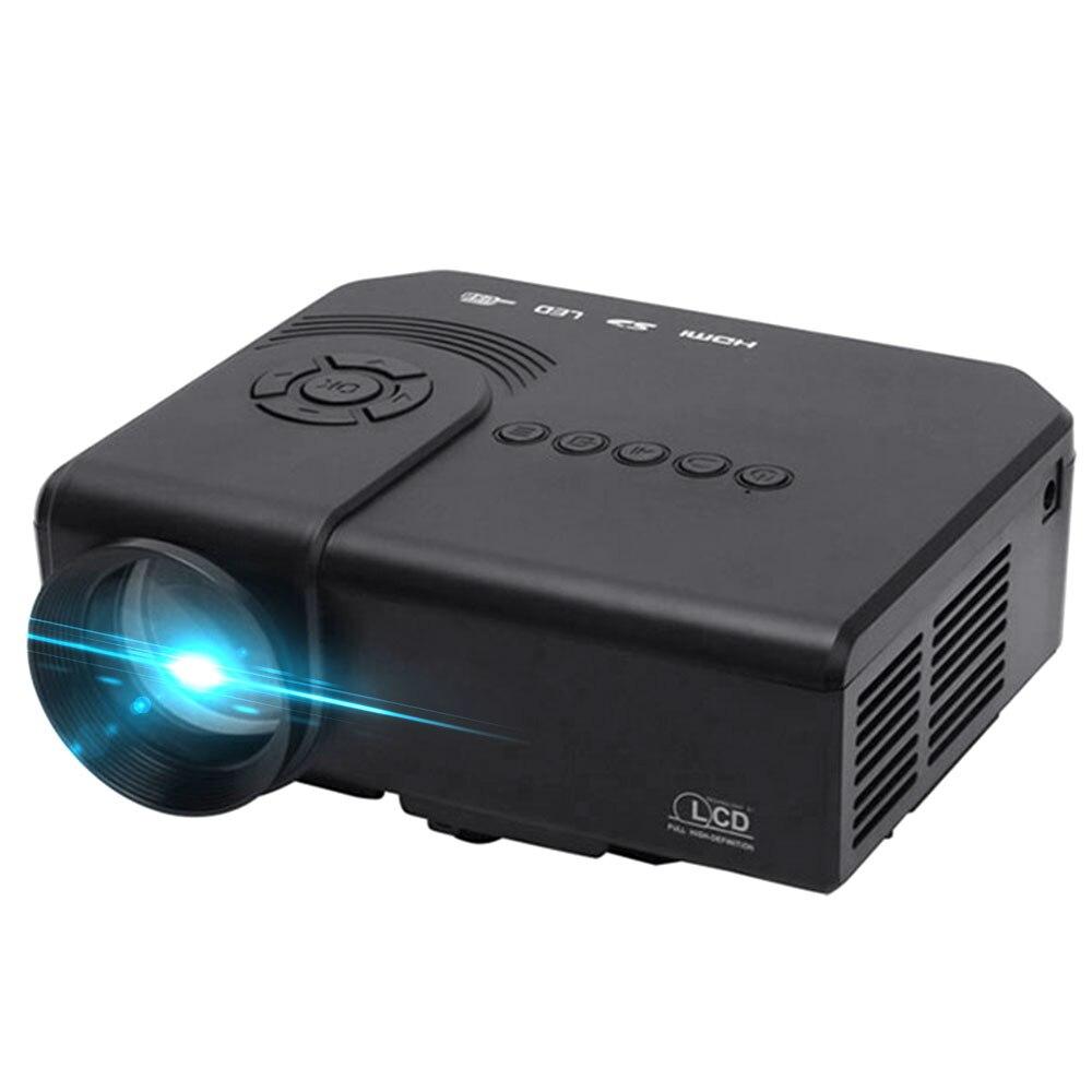 Projecteur multimédia intelligent 1200 Lumens prise en charge 1080 P rouge bleu 3D AV/VGA/HDMI/USB/SD Home Cinema multilingue