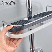 Xueqin Bathroom Shelf Shower Storage Rack Holder Shampoo Bath Towel Tray Home Bathroom Shelves Single Tier