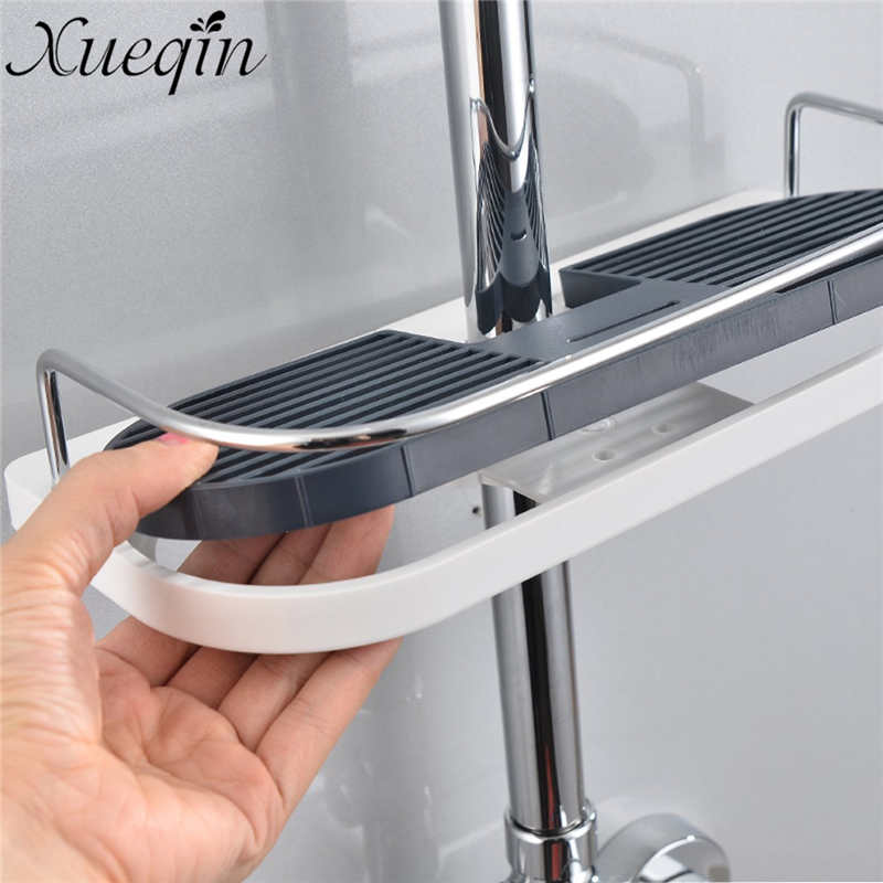 Xueqin Bathroom Shelf Shower Storage Rack Holder Shampoo Bath Towel Tray Home Bathroom Shelves Single Tier Shower Head Holder factory outlet iron bathroom shelf storage rack shelves multilayer promotions