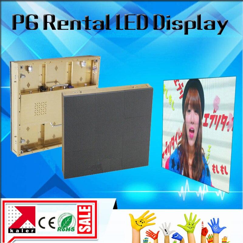 La vidéo et l'image polychrome extérieures de rvb de dentition P6 SMD ont mené l'écran d'affichage 576*576mm imperméabilisent le mur visuel extérieur de coffret de P6 led