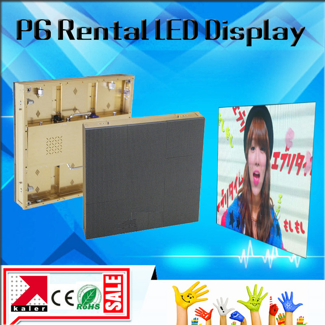 TEEHO P6 SMD Outdoor RGB full color video and image led display screen 576*576mm waterproof outdoor P6 led cabinet video wall