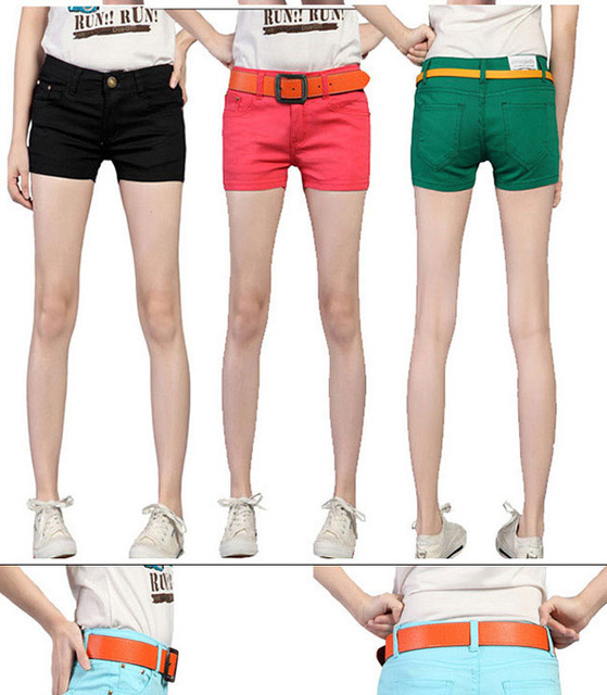 2014 Summer 8 Colors Hot Sale New Women's Candy Color Shorts Casual Short Jeans 5 Size with Drop Shipping