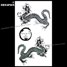 SHNAPIGN The Dragon of Guardian Temporary Tattoo Body Art Arm Flash Tattoo Stickers 17*10cm Waterproof Fake Henna Painless(China)