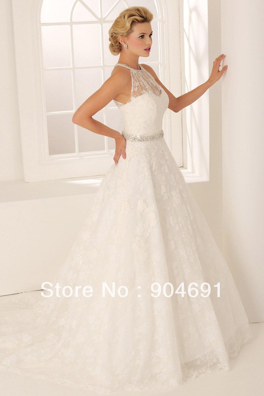 Lace choker wedding dress for Choker neck wedding dress