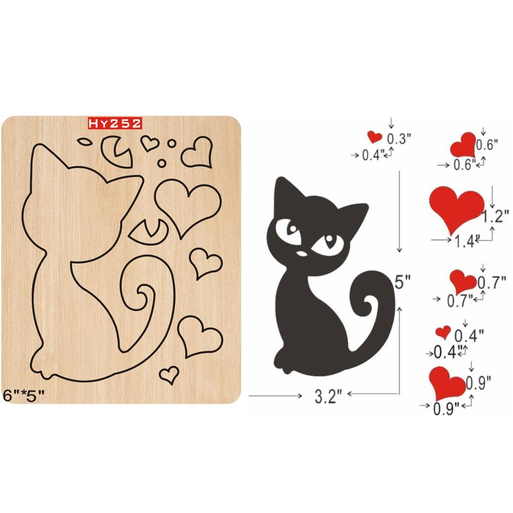Kitty   2019 New Wooden Mould Cutting Dies For Scrapbooking Thickness/15.8mm