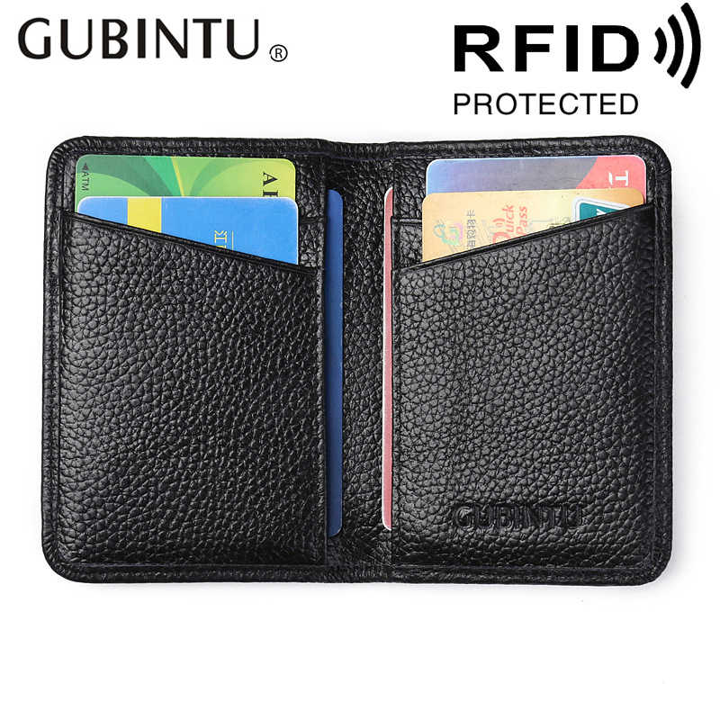 Genuine leather card wallet ultra thin card holder real leather cowhide wallet men purse mini card wallet top quality !