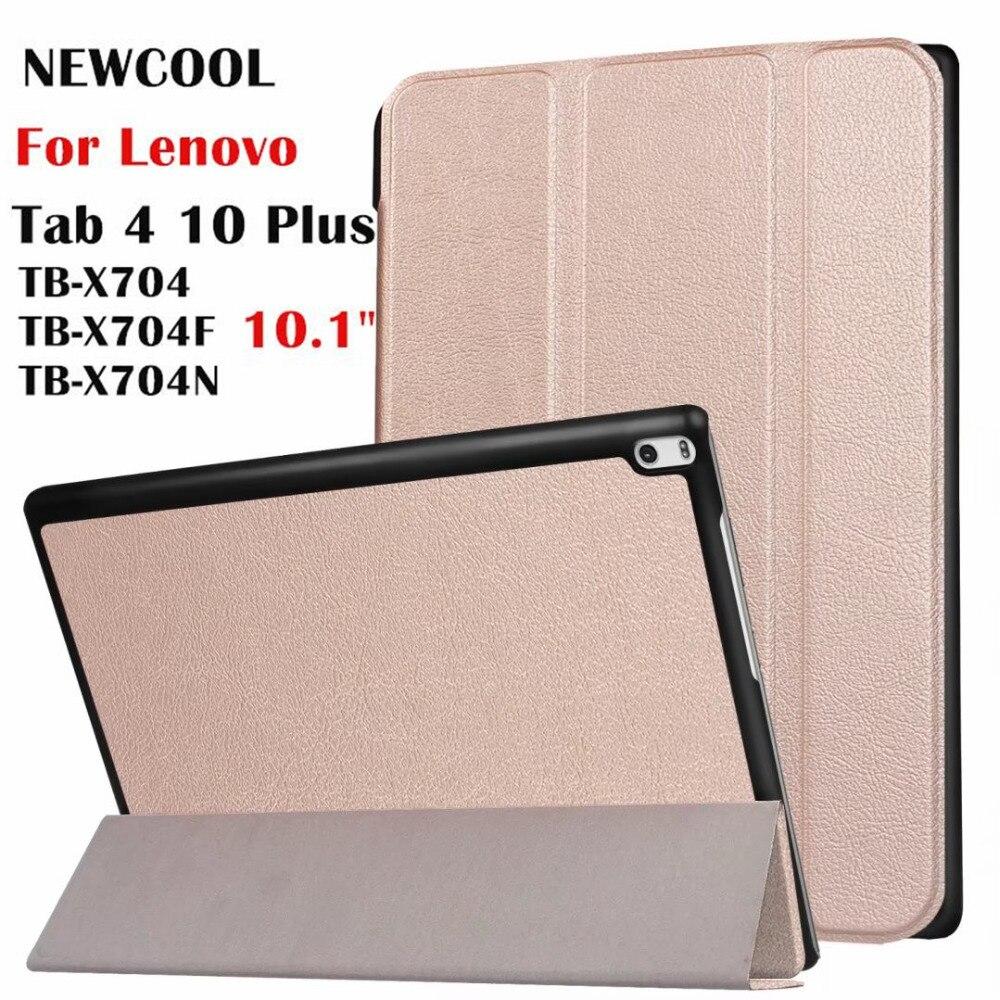Cas Pour Lenovo Tab 4 10 plus, aimant En Cuir Cas pour Lenovo TAB4 10 Plus TB-X704 TB-X704F TB-X704N Flip Case tablet Cover