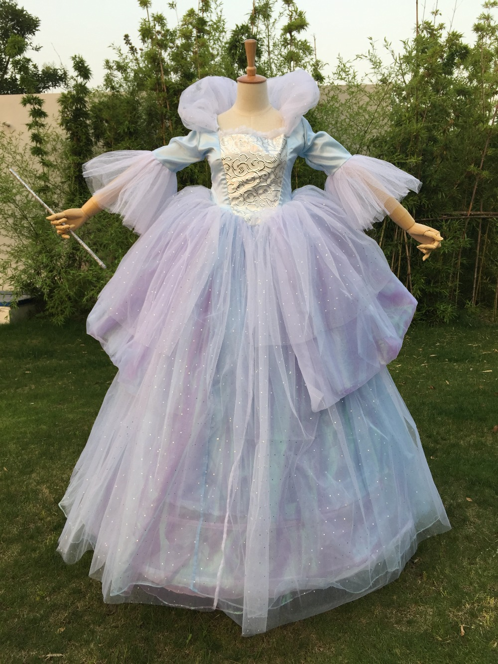 New Women Adult Custom Made Princess Cinderella Online Fairy dress For  Party Long Godmother Dress Plus a726715d108b
