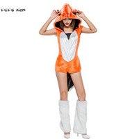 Halloween Fox Costumes For Woman Female Kigurumi Animal Cosplays Winter pajamas Carnival Christmas Purim Masquerade party dress