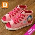 Nuevo 2017 summer girls shoes peep toes sandalias shoes de lona ocasionales de los deportes de los niños kids shoes para niña zapatillas de deporte