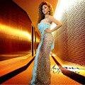 De lujo Árabe Myriam Vestido de Noche Largo de Un Hombro Borla de Cristal Vestidos Formales Opacidad Cielo Azul Vestido Maxi Abiye