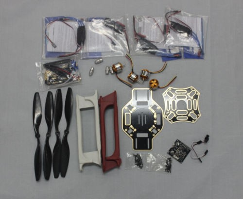 RC 4 Axis Multi heli Quadcopter ARF Kit : F450 Frame + KK Flight Control Board + HOBBYWING ESC + Carbon Fiber Pros f02015 f 6 axis foldable rack rc quadcopter kit with kk v2 3 circuit board 1000kv brushless motor 10x4 7 propeller 30a esc
