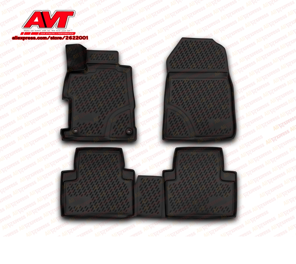 Floor mats case for Honda Civic 4D 2012- sedan 4 pcs rubber rugs non slip rubber interior car styling accessoriesFloor mats case for Honda Civic 4D 2012- sedan 4 pcs rubber rugs non slip rubber interior car styling accessories