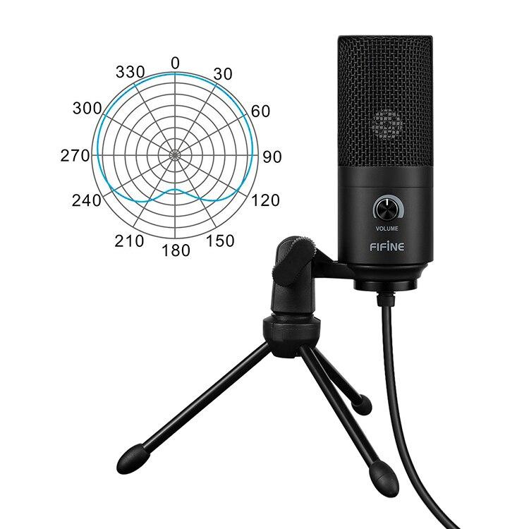 Fifine a USB de Metal condensador grabación micrófono para el ordenador portátil MAC o Windows cardioide de estudio de grabación voz - 6