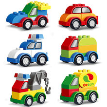 Car Single Sale Model Big Size diy Building Blocks Bricks Baby Educational Toys for children Kids Birthday Gifts(China)