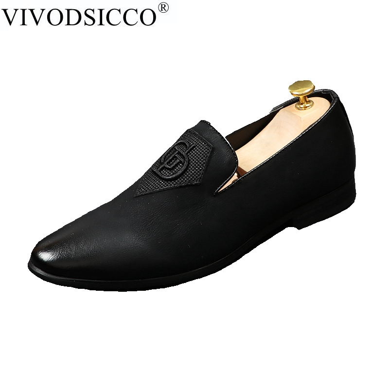 VIVODSICCO Fashion Men Loafers Black Embroidery Handmade Men Velvet Shoes Party And Wedding Men's Flat Slip On Smoking Slippers fashion circle ring and embroidery embellished black baseball cap for men