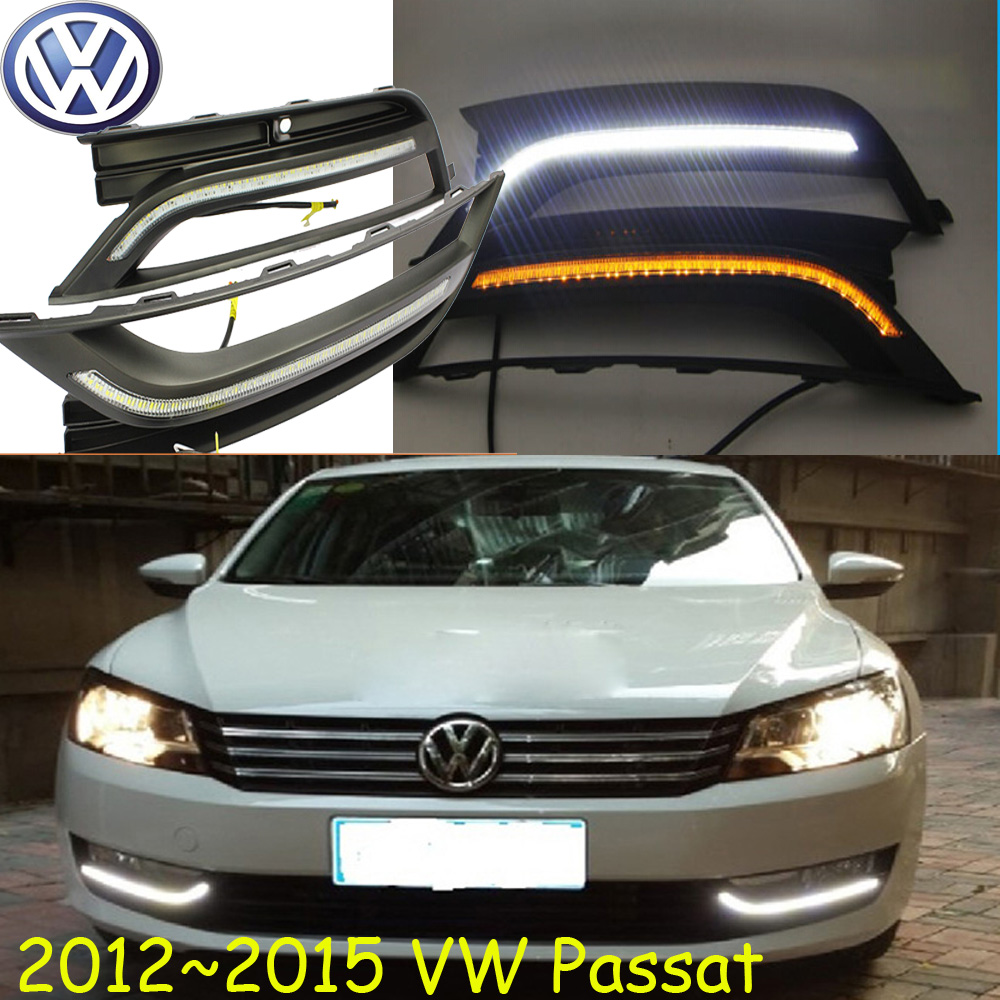 VW Passat daytime light;2012~2015 Free ship!LED,VW Passat fog light,2ps/set;VW Passat;Passat B7 car window curtains legal