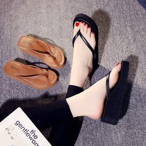 Image 3 - Ipomoea Women Beach Flip Flops 2020 Summer Platform Shoes Woman Fashion Wedges Slippers Female Casual Sandals Slides SH041402