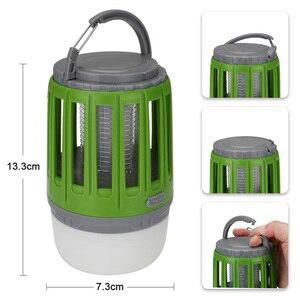 Image 2 - LED خيمة مصباح 2 in 1 علة Zapper مصباح USB فانوس تخييم يمكن إعادة شحنه المحمولة مقاوم للماء قاتل الماموس الكهربائي القاتل LED فانوس