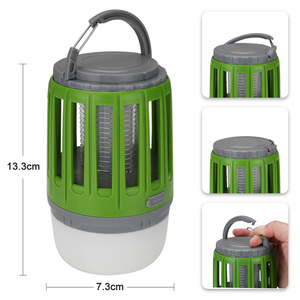 Image 2 - LED Tent Lamp 2 in 1 Bug Zapper Lamp USB Rechargeable Camping Lantern Portable Waterproof Electric Mosquito Killer LED Lantern