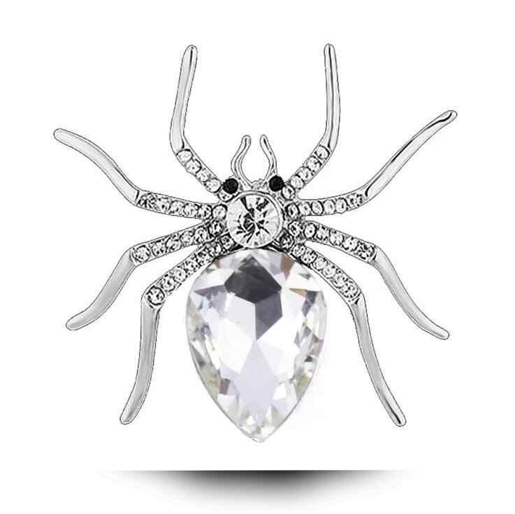 CINDY XIANG งบคริสตัลแมงมุมเข็มกลัดสำหรับผู้หญิง Rhinestone แมลง Pins & Brooches แต่งงานเข็มกลัด Elegant อุปกรณ์เสริม