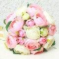 Elegante Hecha A Mano de la Flor Artificial de La Boda Decoración de La Boda Ramo de Flores de La Boda Ramos de Novia Nupcial bryllup buket
