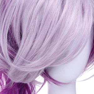 Image 5 - L email wig LOL Lux Cosplay Wigs the Lady of Luminosity Peluca de Cosplay ondulada púrpura mixta coleta pelo sintético resistente al calor