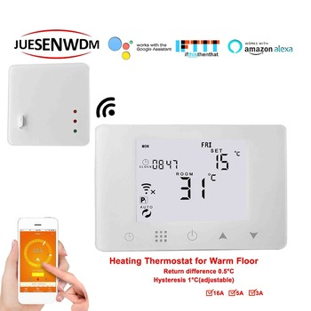 TUYA APP WIFI&RF wireless floor heating thermostat sensor for heating system 16A/5A/3A Optional 600w 32m twin core heating cable for power saving soil heating protection system wholesale hc2 18 600