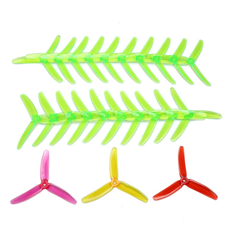 Original 10 Pairs 20pcs Kingkong 5040 5x4x3 3-Blade CW CCW Clear Single Color Propellers For FPV Racer RC Drone Quadcopter Frame new 10 pairs 5045 5x4 5x3 5040 5x4x3 3 blade cw ccw clear single color propellers for kingkong rc fpv racer drone f19462