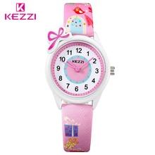 KEZZI Топ бренд дети Детская мода Часы аналоговые кварцевые мультфильм Кожаный ремешок наручные часы Обувь для мальчиков Обувь для девочек Водонепроницаемый подарок Часы