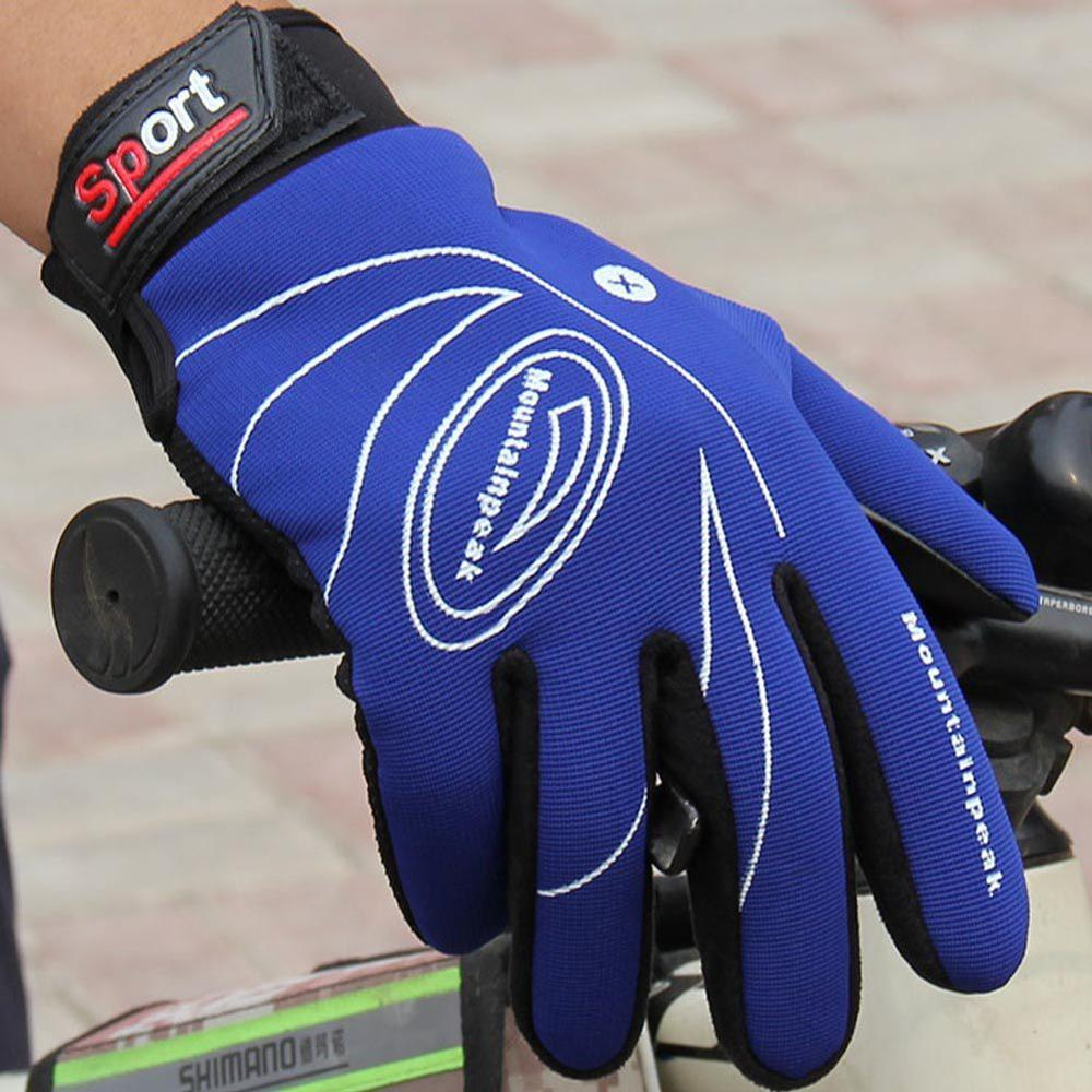 New Sports Windproof Touch Screen Glove Autumn Winter Warm Cycling Gloves Men Women Leather Gloves 5 Colors