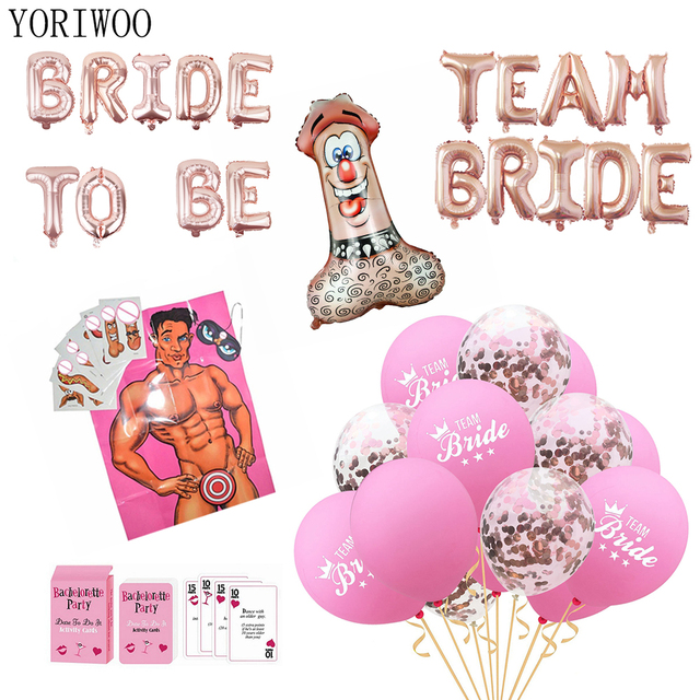 2a9f4ba90e4 YORIWOO Wedding Team Bride To Be Balloons Miss To Mrs Bachelorette Party  Decorations Hen Party Accessories Bridal Shower Favors