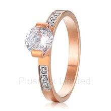 Китай поставщик купить уникальные коллекции дизайн розовое золото цвет чистый титан Свадебные обручальные кольца для женщин