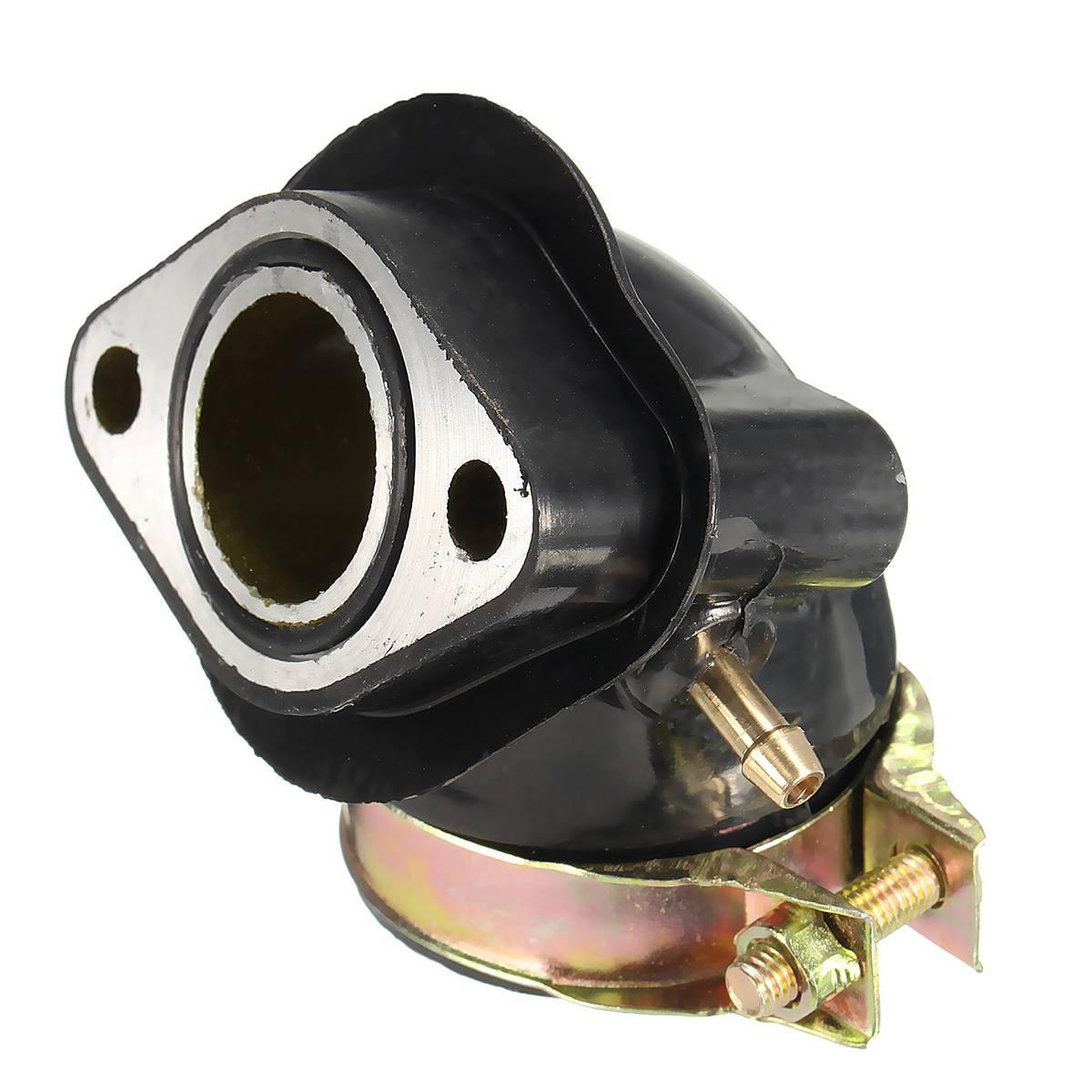 Новинка, алюминиевая и резиновая трубка для впускного коллектора GY6 125cc 150cc, запчасти для мопедов, скутеров, квадроциклов, карт, двигателей GY6