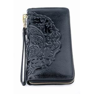 Image 3 - COMFORSKIN Long Vintage Tassel Ladies Wallet Premium Genuine Leather Unique Embossing Floral Women Zipper Purses With Hand Rope