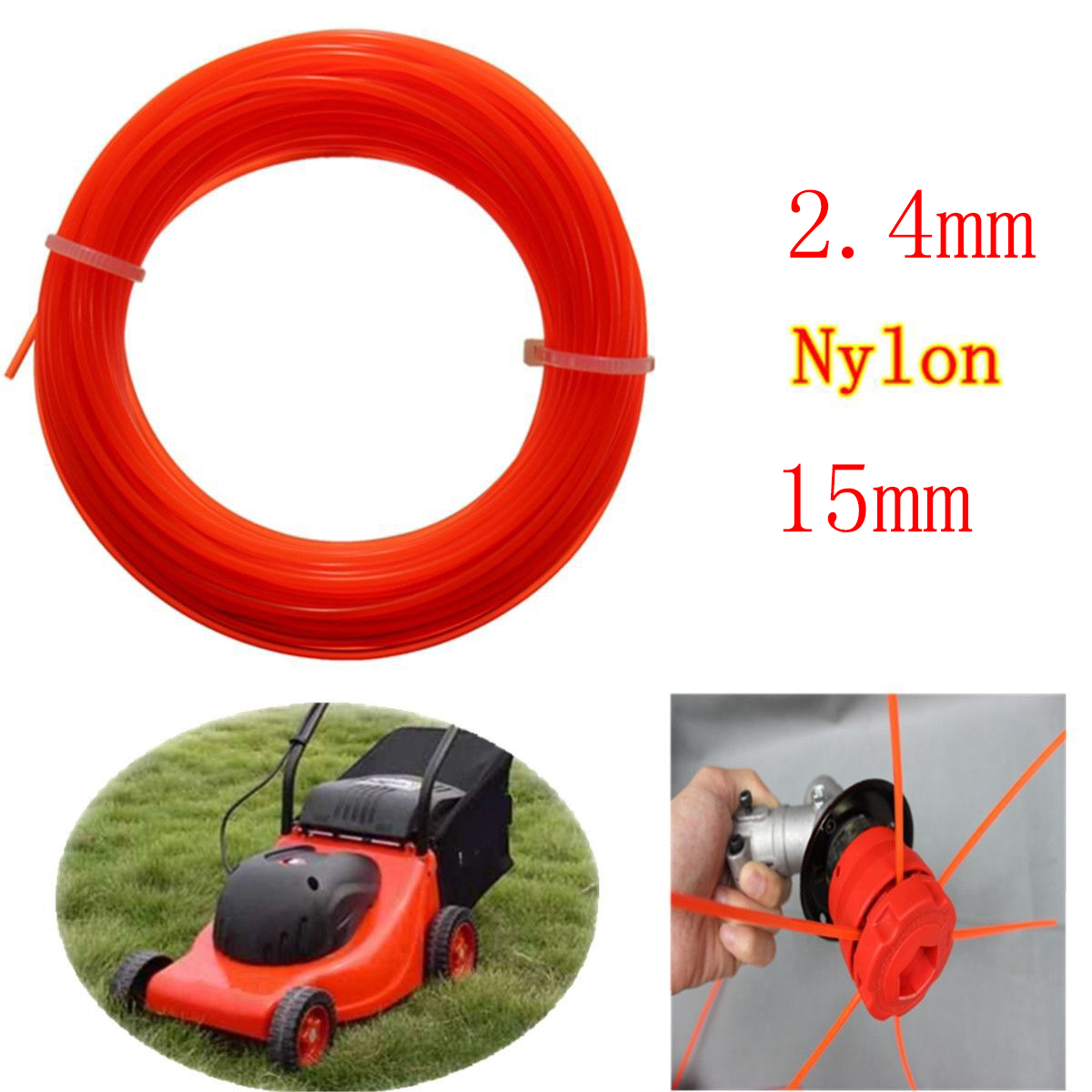 High Quality Grass Cut Strimmer Line Spool Nylon Cord Wire String Grass Trimmer Parts Mayitr Garden Tools 15m x 2.4mm mini garden nylon grass trimmer line light purple 15m