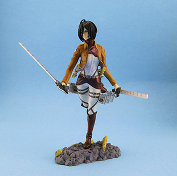 New Arrival Japan Anime Big Size Attack On Titan Mikasa Ackerman PVC Action Figure Kids Toys Doll 24cm Brinquedos Anime Figure attack on titan anime 17 cm mikasa ackerman battle version pvc anime figure collection doll model toy kids toys pm scene tw18